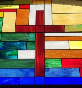 Cross Stain Glass Window